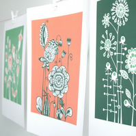 Any 3 Meadow A3 prints