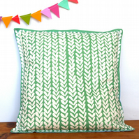 Mint Knitting Cushion - handmade retro funky vintage nursery quirky fun