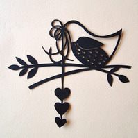 Mini Bird Papercut No.1