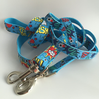 Blue explosion dog lead