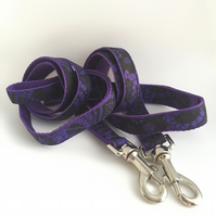 purple and black cobweb dog lead