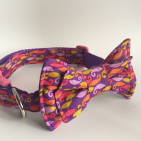 curly whirly dog collar bow