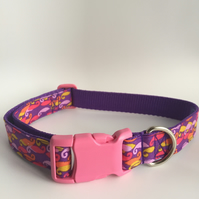 curly whirly dog collar - size 4