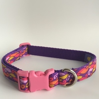 curly whirly dog collar - size 2