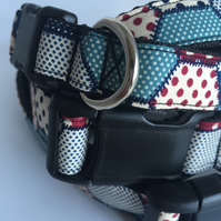 patchwork dog collar - size 2
