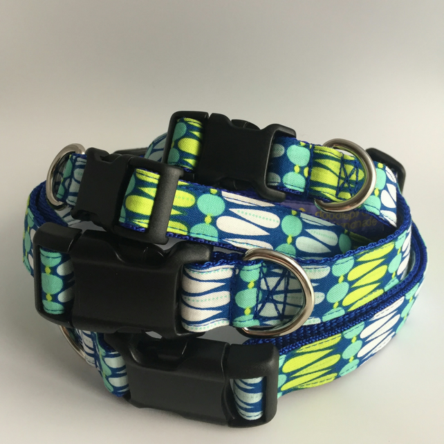 Spring Peacock dog collar - size 3
