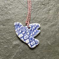 Porcelain bird,love token,something blue,wedding favour,The Jewellery Boat