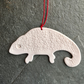 Porcelain chameleon, Scandi hanging decoration, The Porcelain Menagerie - white