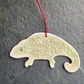 Porcelain chameleon, Scandi hanging decoration, The Porcelain Menagerie - green