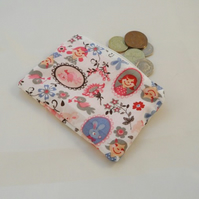 Fairytale Fabric Coin Purse - Free P&P