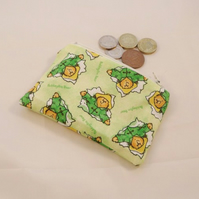 Paddington Bear Fabric Coin Purse - Free P&P