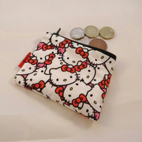 Hello Kitty Collage Fabric Coin Purse - Free P&P
