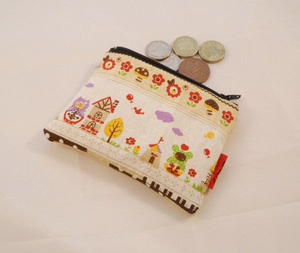 Storybook Fabric Coin Purse - Free P&P