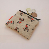 I love Nerds Fabric Coin Purse - Free P&P