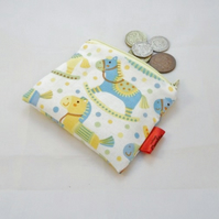 Cute Rocking Horse Fabric Coin Purse - Free P&P