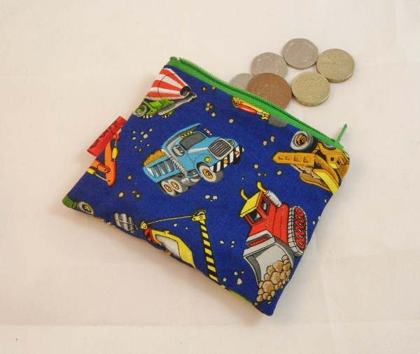 Blue Diggers Fabric Coin Purse - Free P&P