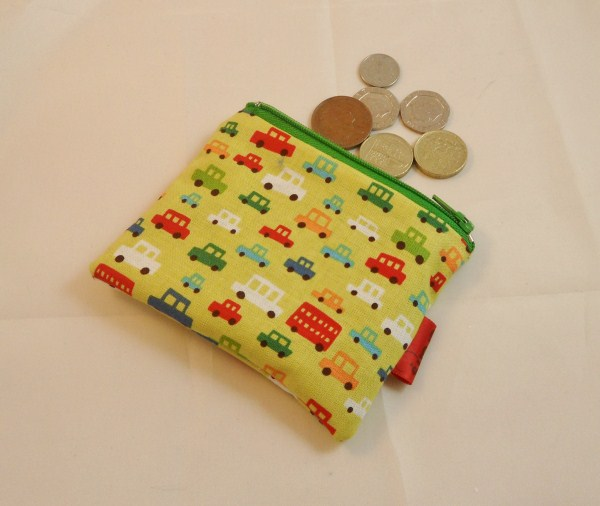 Green Transport Fabric Coin Purse - Free P&P