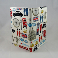 Colourful London Fabric Covered 2017 A6 Hardback Diary - Free UK P&P