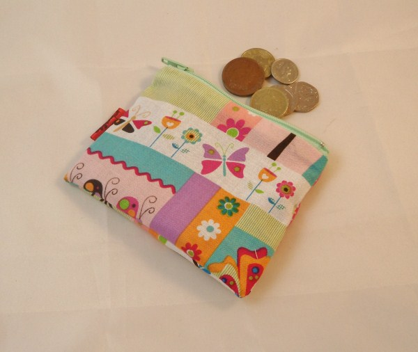 Vibrant Countryside Fabric Coin Purse - Free P&P