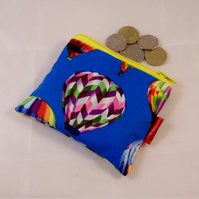 Hot Air Balloon Fabric Coin Purse - Free P&P