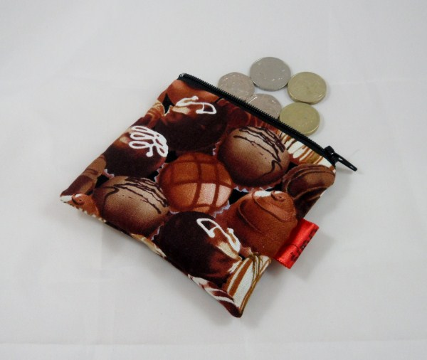 Delicious Fat Free Chocolates Fabric Coin Purse - Free P&P