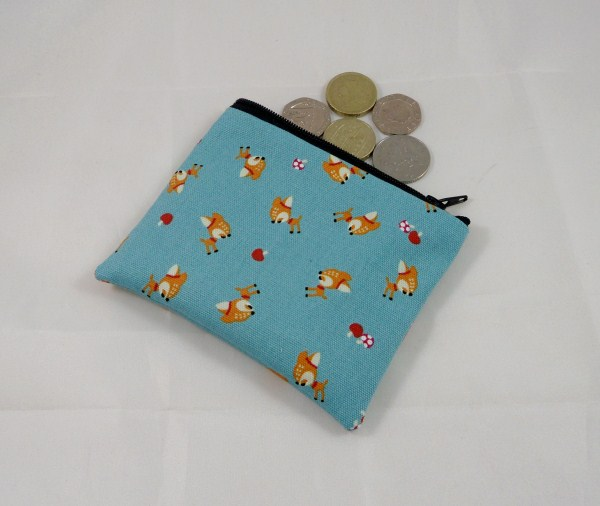 Tiny Deer Fabric Coin Purse - Free P&P