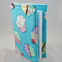 Large Cupcakes Fabric Covered A6 2017 Hardback Diary - Free UK P&P