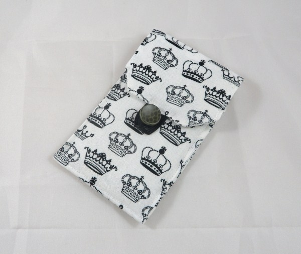 Crowns Fabric Padded Phone Cover - Free UK P&P