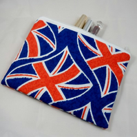 Union Jack Fabric Make Up Bag or Pencil Case - Free P&P