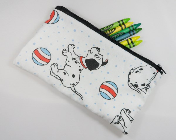 Dalmatian Puppy Fabric Pencil Case - Free UK p&p