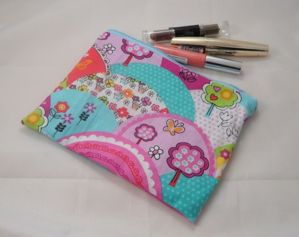 Happy Hills Fabric Make Up Bag or Pencil Case - Free P&P