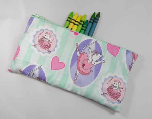 Angelina Ballerina Fabric Pencil Case - Free UK p&p