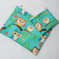 Beautiful Owls Fabric Make Up Bag or Pencil Case and Coin Purse - Free P&P
