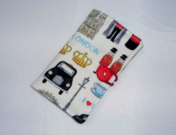 Colourful London Icons Fabric Business Card Holder - Free UK P&P