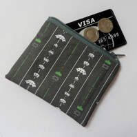 Space Invaders Fabric Coin Purse - Free P&P