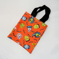 Orange Halloween Fabric Trick or Treat Bag - Free UK P&P