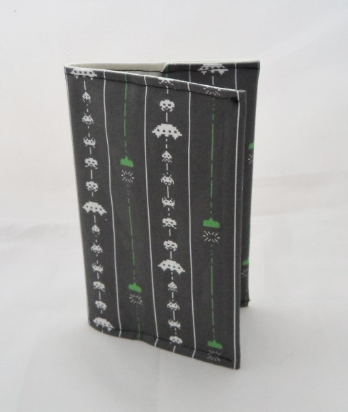 Space Invaders Fabric Covered A6 2018 Hardback Diary - Free UK P&P