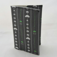 Space Invaders Fabric Covered A6 2017 Hardback Diary - Free UK P&P