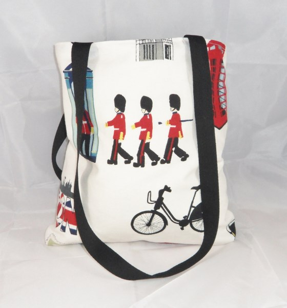 Large London Icons Fabric Tote Bag - Free UK P&P