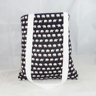 Tiny Elephants Fabric Tote Bag - Free UK P&P