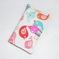 Cute Birds Fabric Card Holder - Free UK P&P