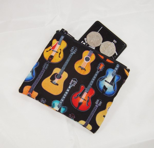 Acoustic Guitars Fabric Coin Purse - Free P&P