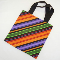 Halloween Stripes Fabric Trick or Treat Bag - Free UK P&P