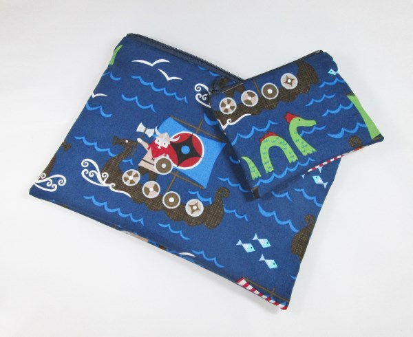 Viking Ship  Make Up Bag or Pencil Case and Coin Purse - Free P&P