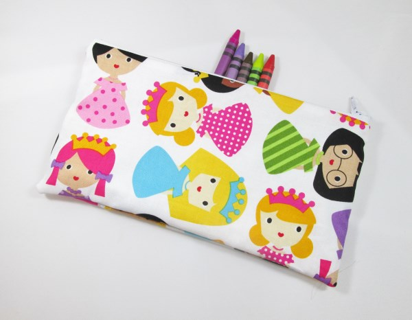 Pretty Princessess Fabric Pencil Case - Free UK p&p