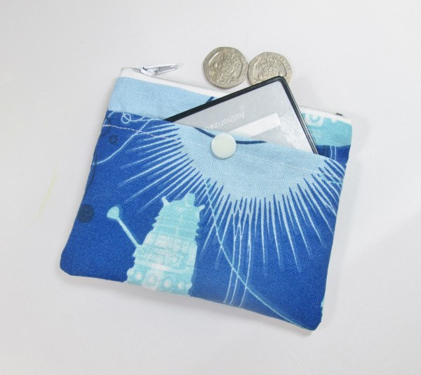 Dr Who Pocketed Fabric Coin Purse - Free P&P