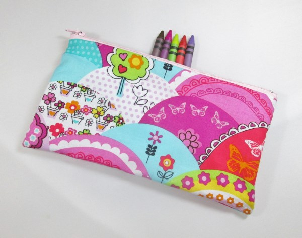 Happy Hills Fabric Pencil Case - Free UK p&p
