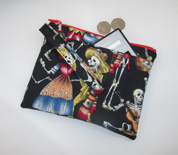 Day of the Dead Fabric Party Purse - Free P&P