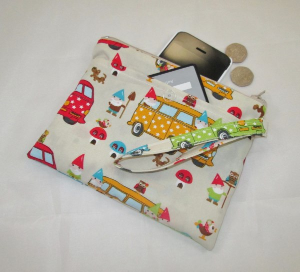Gnomes and Campervans Fabric Party Purse - Free P&P