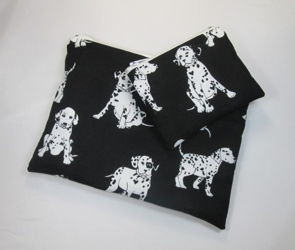 Dalmatians Fabric Make Up Bag or Pencil Case and Coin Purse - Free P&P